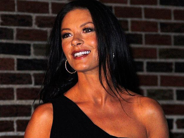 Catherine Zeta-Jones overdid the fake tan for her visit to The Late Show With David Letterman in January.