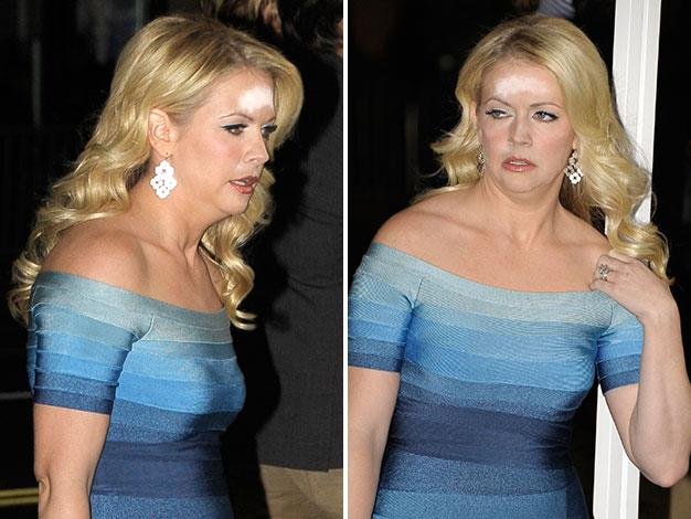 Melissa Joan Hart overdid the powder at a film premiere in Hollywood this week.