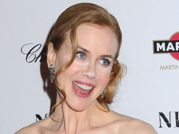 Nicole Kidman didn't blend her makeup before she stepped out for the New York premiere of Nine in 2009.