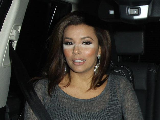 Eva Longoria had an under-eye powder issue while out for dinner in Hollywood in 2011.