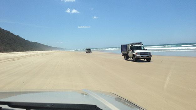 Four wheel driving on Noosa's north shore, offers a glimpse of a Noosa few see.