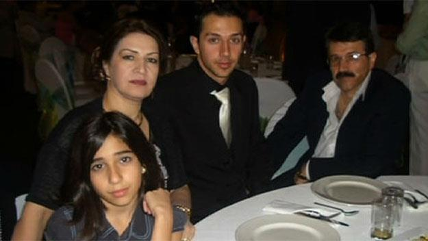 Arman Abrahimzadeh photographed with his family.