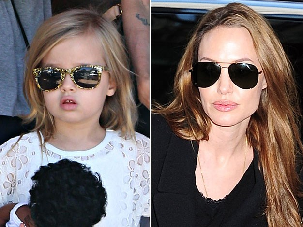 Angelina Jolie and her lookalike daughter Vivienne out in Sydney's Rose Bay.