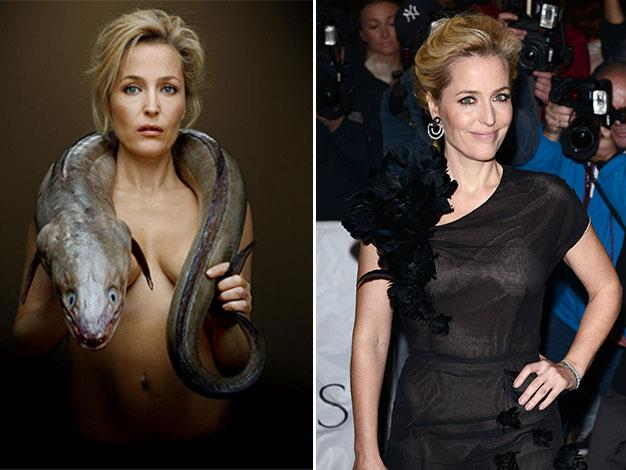 Gillian Anderson poses nude for Fishlove - UPI.com