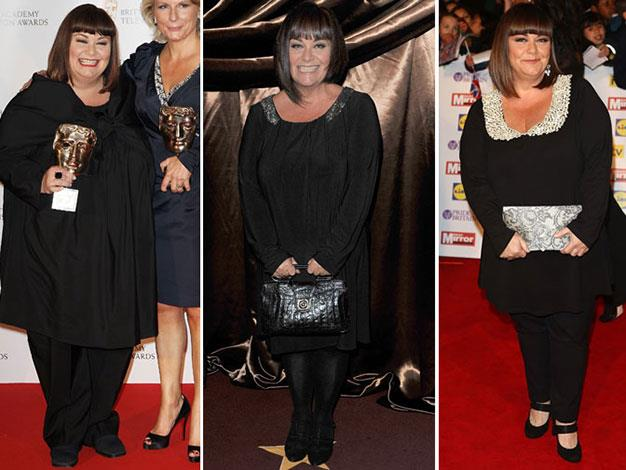 Dawn French in 2007, 2011, and 2013.