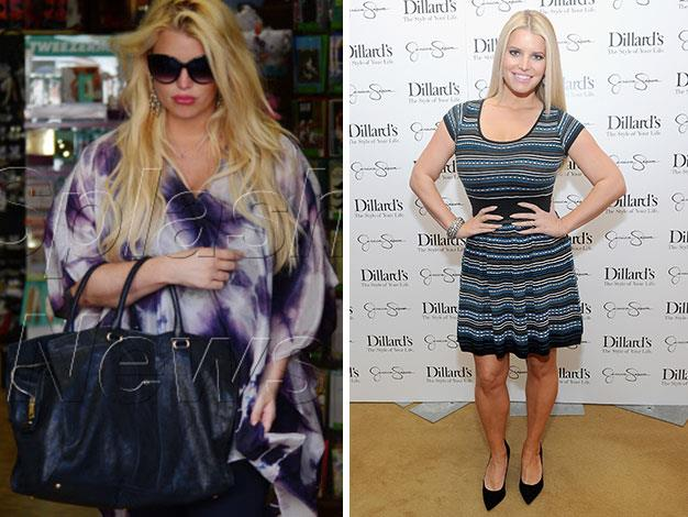 Jessica Simpson had lost most of her baby weight in just four months this year.