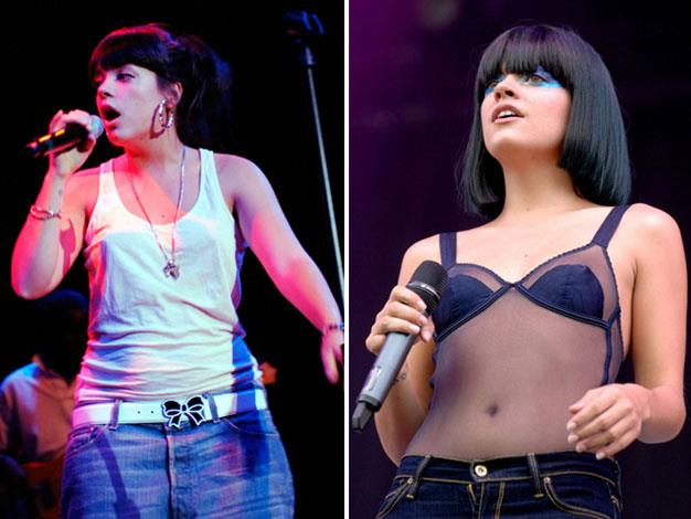 Lily Allen lost a lot of weight between 2007 and 2009.