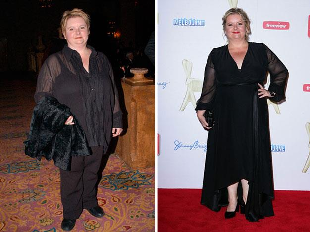 Magda Szubanski has dropped several dress sizes recently. Here she is in 2002 and 2011.