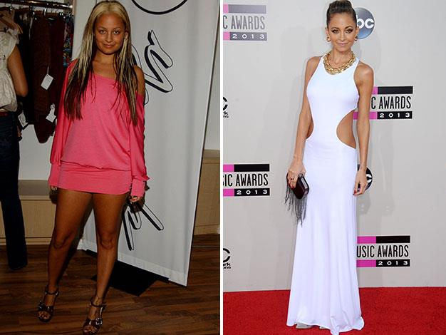 Nicole Richie in 2003 and last month.