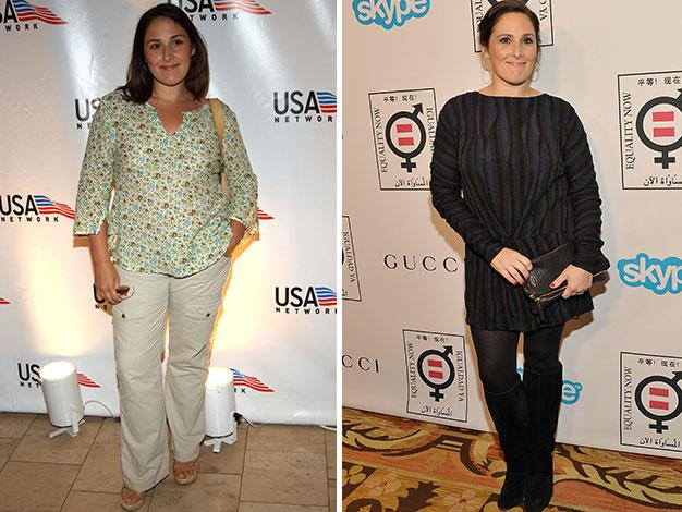 Talk show queen Ricki Lake in 2002 and 2013.