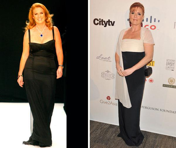 Sarah Ferguson was dubbed 'The Duchess of Pork'. Here she is in 2007 and now.