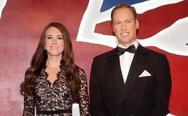 William and Kate waxworks touch down in Sydney