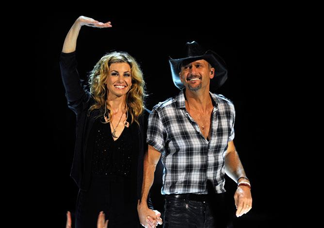 Country music royalty Faith Hill and Tim McGraw have been married for 17 years and still perform together.