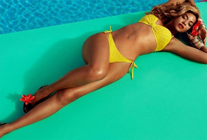 Beyonce was reportedly furious with her image being airbrushed in this campaign for H & M.