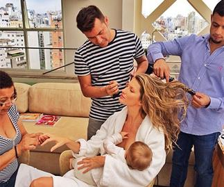 Supermodel Gisele Bundchen posted this image of her breastfeeding her daughter on Instagram.