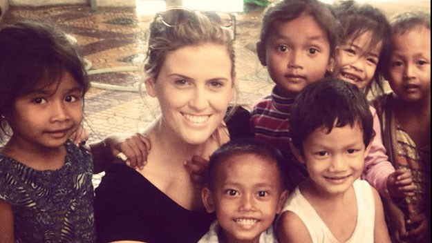 Queenslander Jordyn Archer in Cambodia, where she travelled to help victims of child sex trafficking.