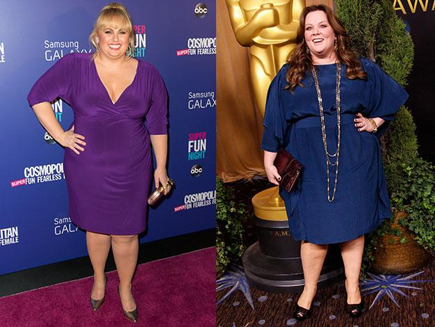Rebel Wilson and Melissa McCarthy have vowed to keep their curves.