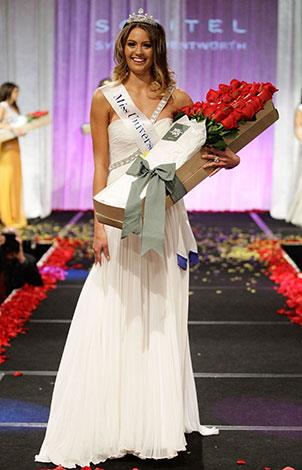 Newly-crowned Miss Universe Australia in June 2010.