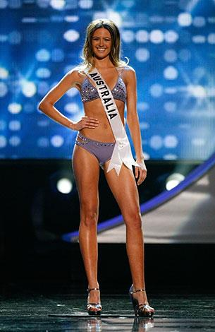 Looking spectacular in swimwear in the Miss Universe pageant in August 2010.