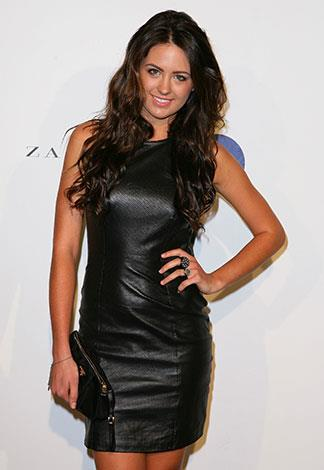 Looking sexy in leather in April 2011.