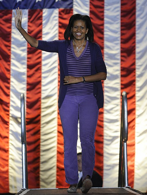 Michelle played a pivotal role in Barack's campaign in 2008.