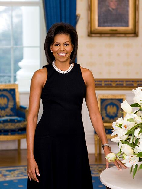 The First Lady's official White House portrait.