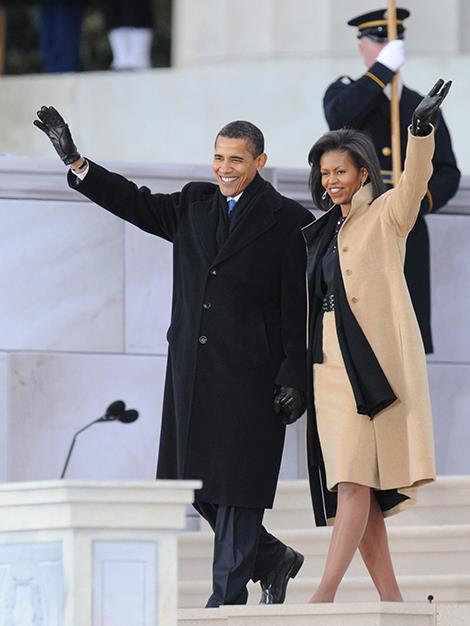 US President-elect Barack Obama and his wife Michelle arrive at the 'We Are One' concert in 2009.