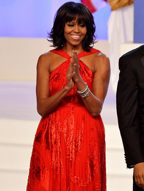 Lady in red; the First Lady at the 57th Presidential Inauguration ball in 2013.