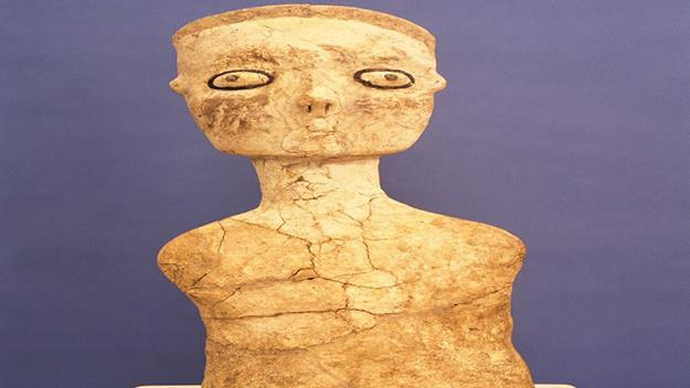 Neolithic statue at the Amman Archaeological Museum at the Citadel.