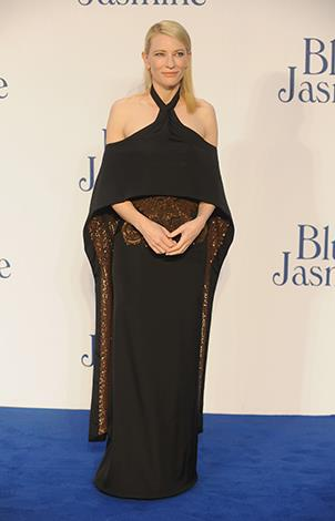 Cate in Givenchy couture at the London premiere of her film Blue Jasmine.