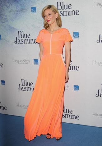 Cate wears this tangerine dream to the 'Blue Jasmine' Australian premiere in Sydney.