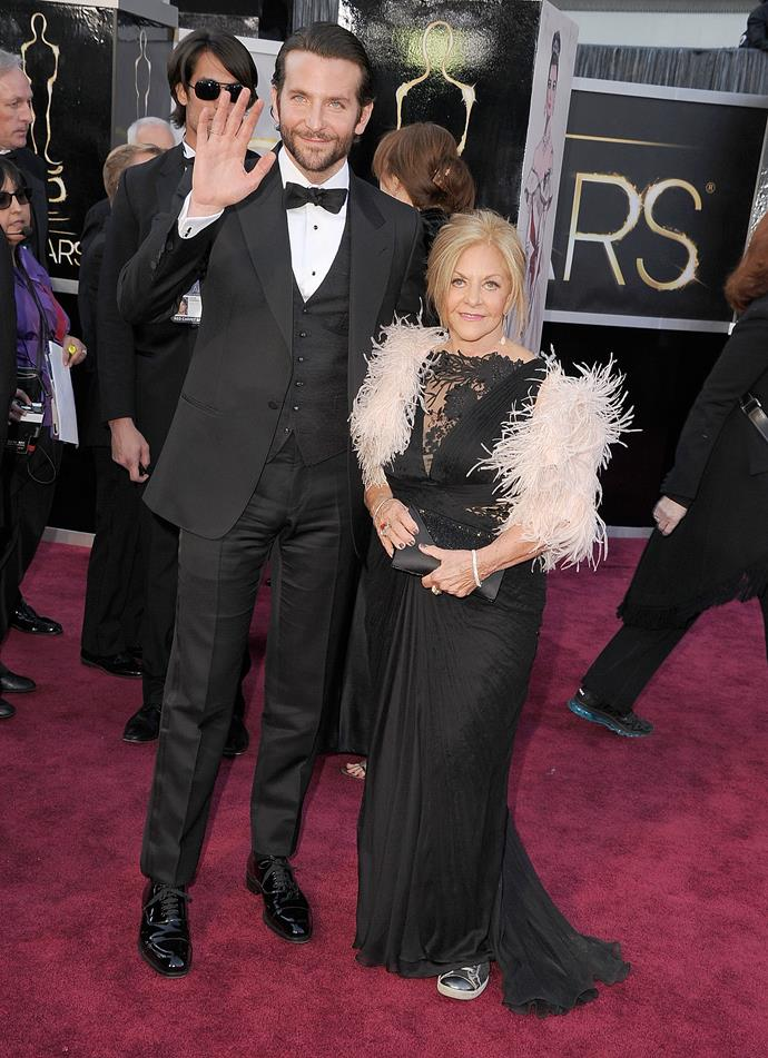 Bradley also took proud Gloria as his date to the Oscars last year.