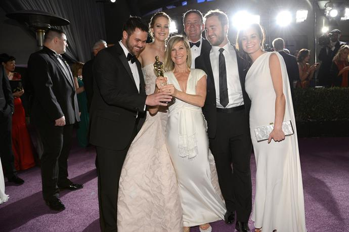 **Jennifer Lawrence** took her whole family - parents Karen and Gary and brothers Ben and Blaine - to the Oscars last year.