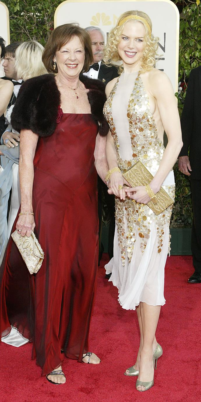 **Nicole Kidman's** mum Janelle was her date at the 2004 Golden Globes.