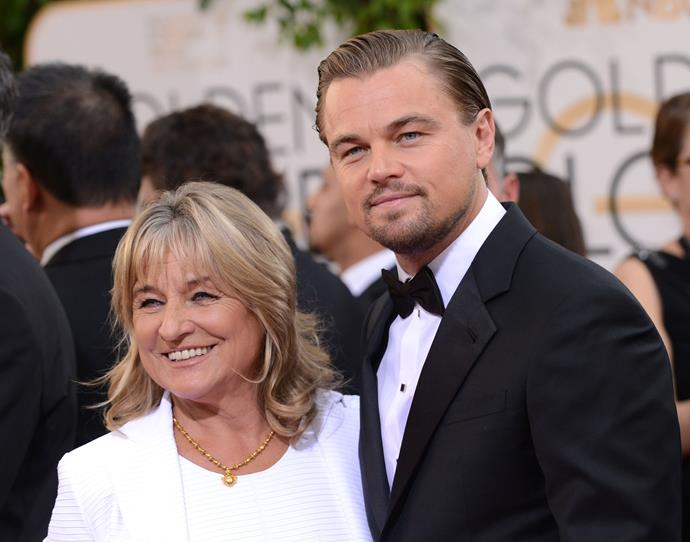 **Leonardo DiCaprio** took his mum Irmelin as his date to the Golden Globes, and even thanked her when he won best actor.
