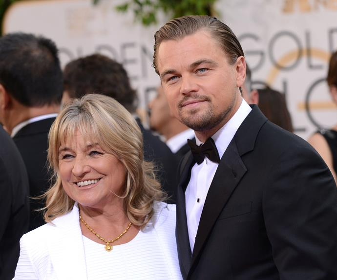 Leonardo DiCaprio and his mother