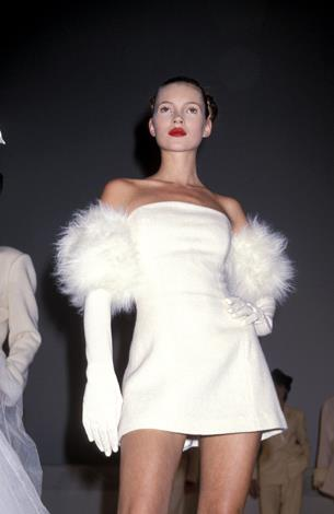 Almost angelic, Kate models a design by Isaac Mizrahi.