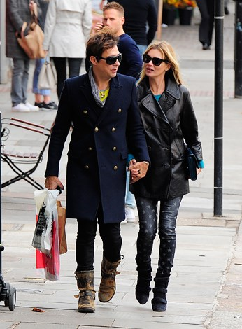 Kate Moss strolls the streets of London with hubby Jamie Hince.