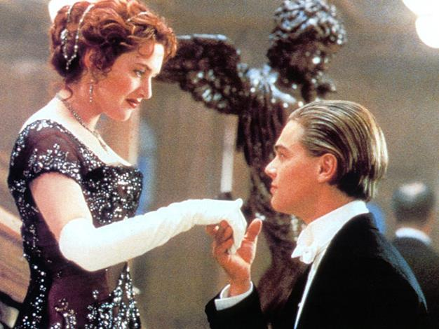 At still from Titanic in 1997.
