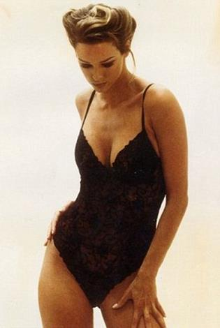 Claire in her modelling heyday.