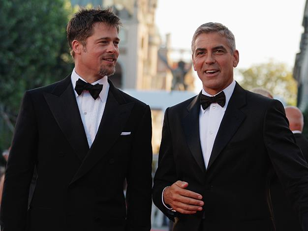 "The combined hotness of this male pairing burns our eyes. Brad Pitt and George Clooney had a blast making those ""Ocean's"" movies and the fun just continues for these two."