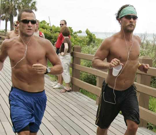 Lance Armstrong and Matthew McConaughey forged their friendship over fitness. Over the years the pair could be spotted running and training together but we're not sure if this love lasted through Armstrong's duplicitous doping admission.
