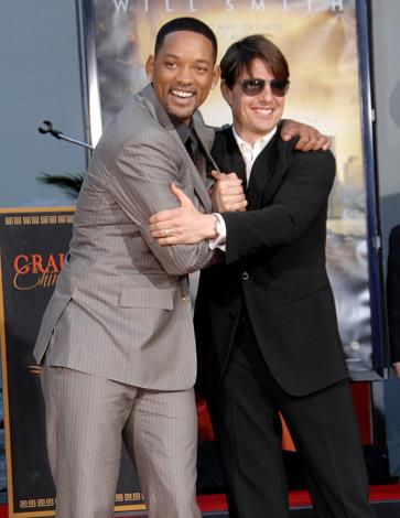 "While Tom Cruise hasn't quite leapt onto a couch and confessed his love for Will Smith, the love in the air is evident. Smith once told reporters that Cruise was ""one of the greatest spirits that I've ever met."""