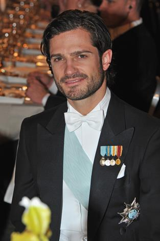 Prince Carl Philip, Duke of Värmland, 34, is known for being somewhat of a playboy Prince. The Swedish royal holds the title of lieutenant in his homeland's Navy, and has studied graphic design and agricultural and rural management.