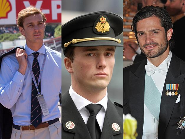 Pierre Casiraghi of Hanover, Prince Amedeo of Belgium and Prince Carl Philip of Sweden are all eligible royal bachelors.