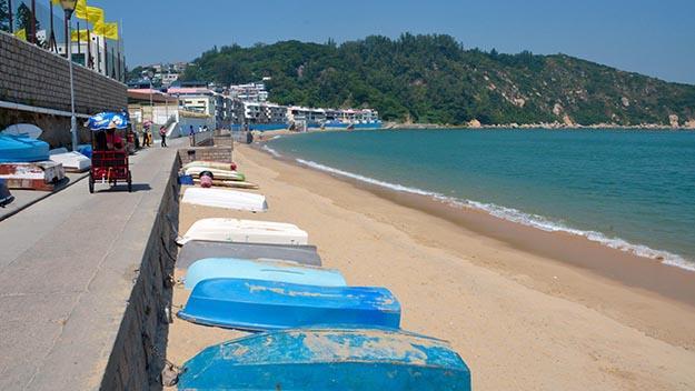 Hong Kong's Bondi Beach – the main beach on Cheung Chau Island. Pic: Mike Dolan