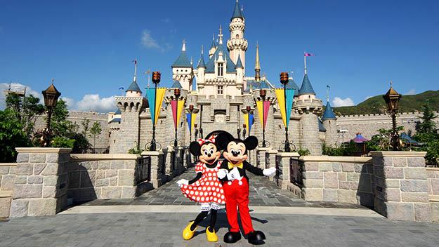 Kong Hong Disneyland on Lantau Island. Photo courtesy of Hong Kong Tourism Board.