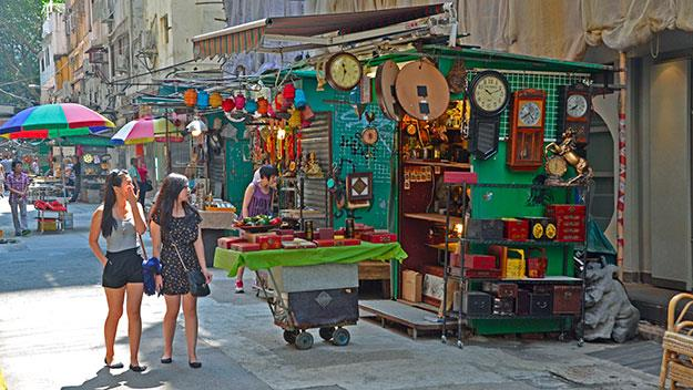 Bric-a-brac and antiques at the Cat Street Bazaar, Upper Lascar Row.