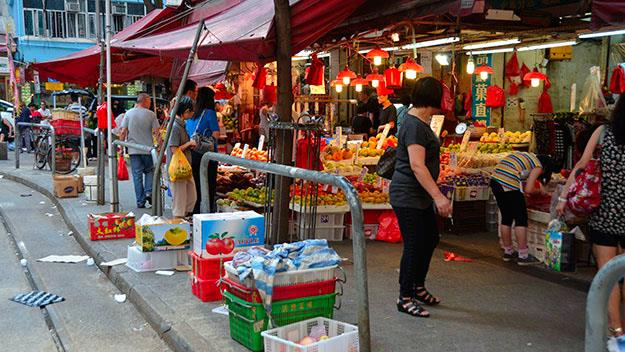 The Wet Markets at Hong Kong Island's North Point.