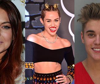 Lindsay Lohan, Miley Cyrus, Justin Bieber